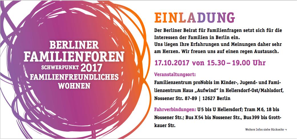 Berliner Familienforum – Familienfreundliches Wohnen