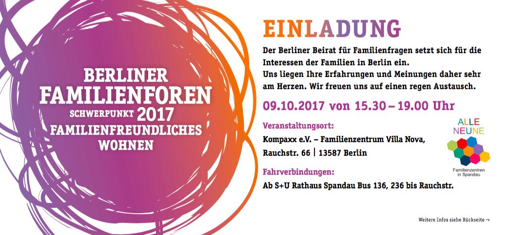 Berliner Familienforum – Familienfreundliches Wohnen – Spandau