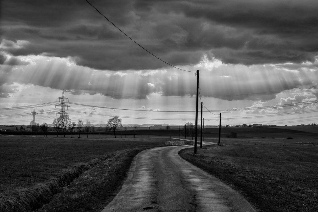 Unwetter mit besserem Wetter am Horizont